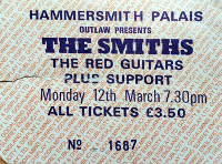 Hammersmith Palais ticket, 12/03/1984.